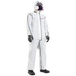 Honeywell 4500601 Spacel C4 White Type 4/5/6 Disposable Coveralls (Box of 25)