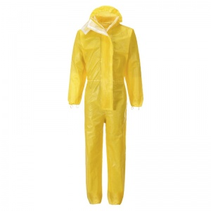 Portwest ST70 BizTex Microporous Yellow Type 3/4/5/6 Coveralls