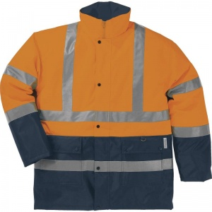 Delta Plus STRADA 2 Hi-Vis Orange Waterproof Thermal Windbreaker