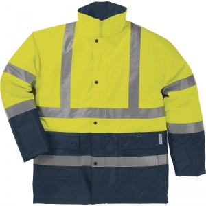 Delta Plus STRADA 2 Hi-Vis Yellow Waterproof Thermal Windbreaker