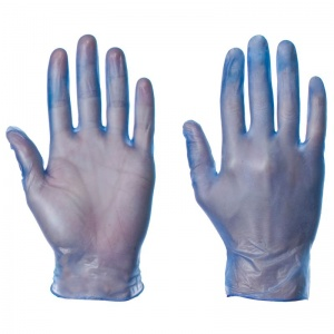 Supertouch Blue Disposable Vinyl Gloves 1101