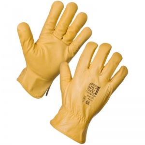 Supertouch 2064 Fleece Lining Leather Driving Gloves
