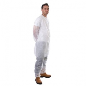 Supertouch Disposable Non-Woven Coat (Pack of 50)