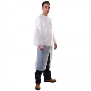 Supertouch Disposable PE Visitor Coat (Pack of 10)