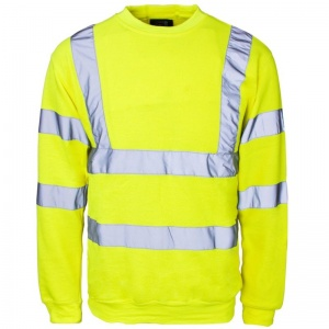 Supertouch Hi-Vis Crew Neck Sweatshirt