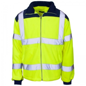 Supertouch Hi-Vis Micro Fleece Jacket with Rain Patch