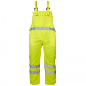 Supertouch Hi-Vis Polycotton Bib Trousers