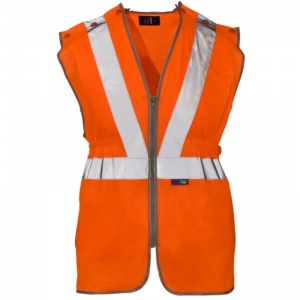 Supertouch Hi-Vis Polyester Long Tracker Vest (Pack of 50)