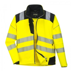 Portwest PW3 Hi-Vis Waterproof Softshell Jacket T402