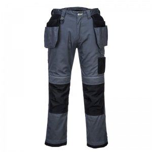 Portwest T602 PW3 Grey/Black Holster Work Trousers