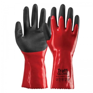 TraffiGlove TG1080 Chemic Cut Level 1 Chemical-Resistant Gloves