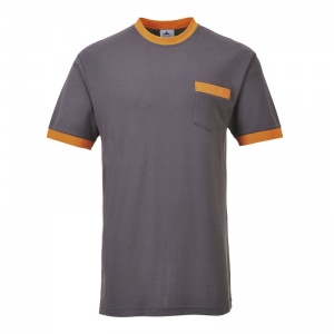 Portwest TX22 Texo Contrast Grey T-Shirt