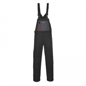 Portwest TX62 Black Rhine Bib and Brace