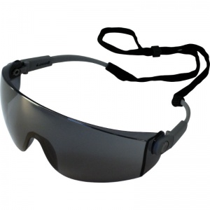 UCi Solomon Smoke Lens Safety Glasses with Neck Cord I707