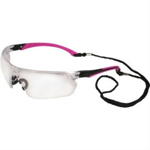 UCi Tiran Clear Lens Safety Glasses with Pink Arms S8012