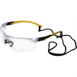 UCi Tiran Clear Lens Safety Glasses with Yellow Arms S8012