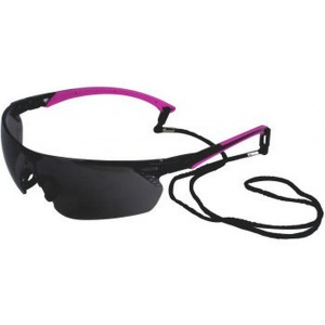 UCi Tiran Smoke Safety Glasses with Pink Arms S8012