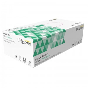 Unicare Latex Powdered Examination Food Gloves GS002