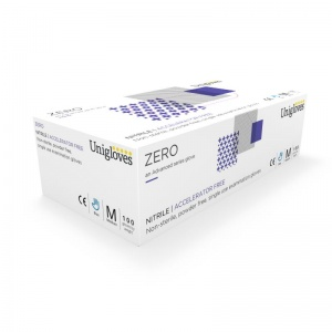 Unigloves Zero Nitrile GM005 Accelerator-Free Disposable Gloves