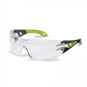 Uvex Pheos Clear Green Safety Glasses 9192-225