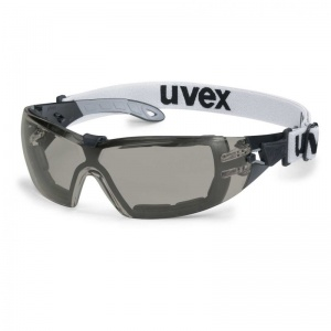 Uvex Pheos Guard Grey Anti-Glare Safety Glasses 9192-181