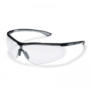 Uvex Sportstyle Black Clear Polycarbonate Safety Glasses 9193080