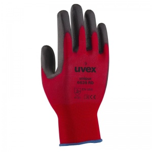 Uvex Unipur 6639 Red PU Coated Gloves