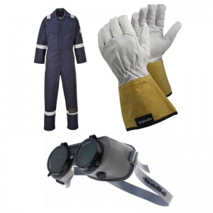 Welding Workwear Kit including Goggles, Gloves and Coveralls