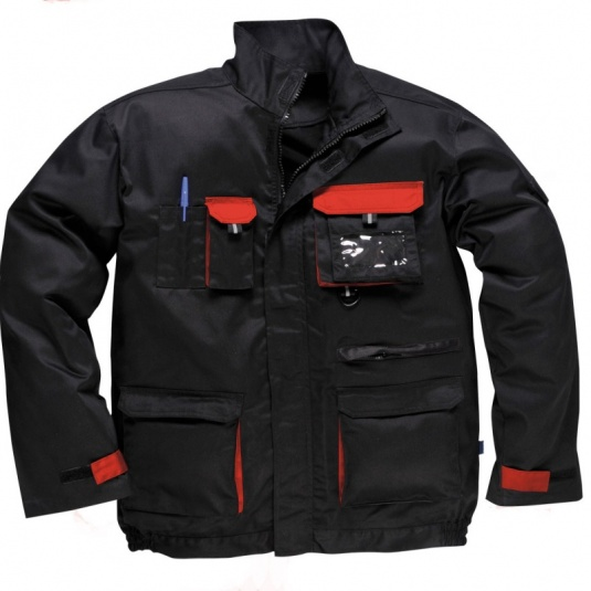 Portwest TX10 Black/Red Texo Contrast Jacket
