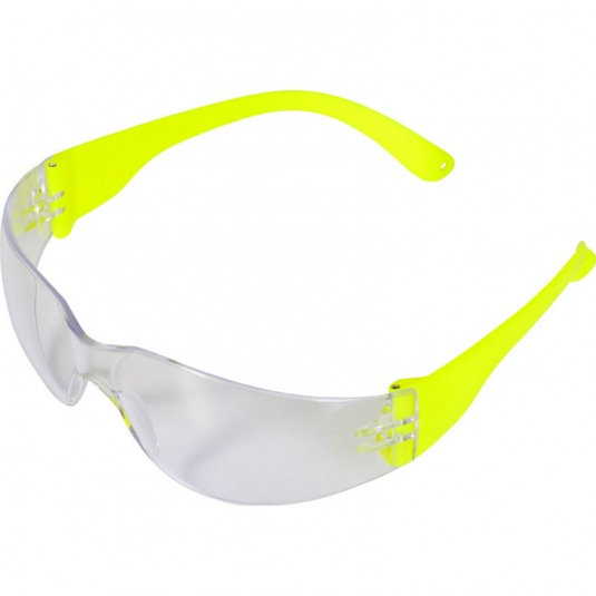 UCi Java Clear Lens Safety Glasses with Hi-Vis Arms I907-HVY