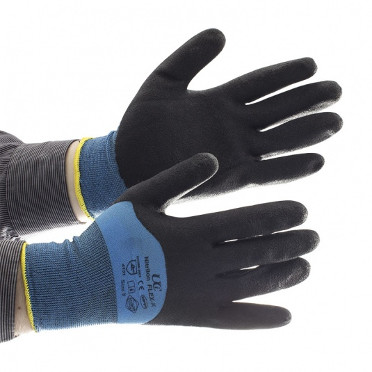 UCi Nitrilon PVC Knuckle-Coated Oil-Resistant Gloves  NCN-Flex-K