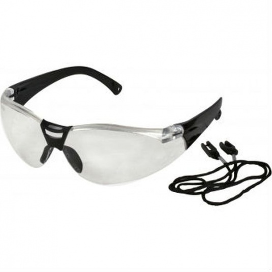 UCi Savu Clear Safety Glasses with Neck Cord I623