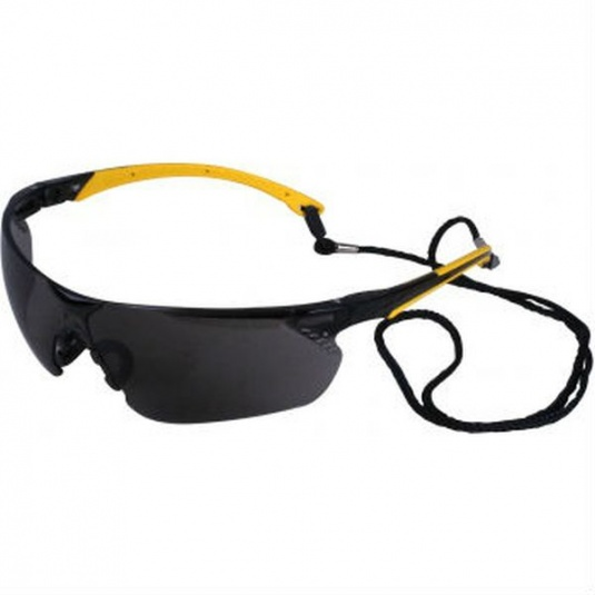 UCi Tiran Smoke Safety Glasses with Yellow Arms S8012
