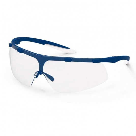 Uvex Super Fit Blue Frame Safety Glasses 9178-265