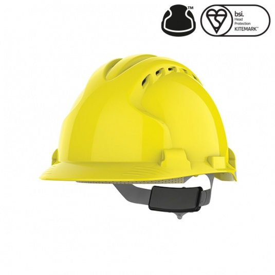 JSP MK EVO8 Vented Yellow Safety Helmet with Slip Ratchet